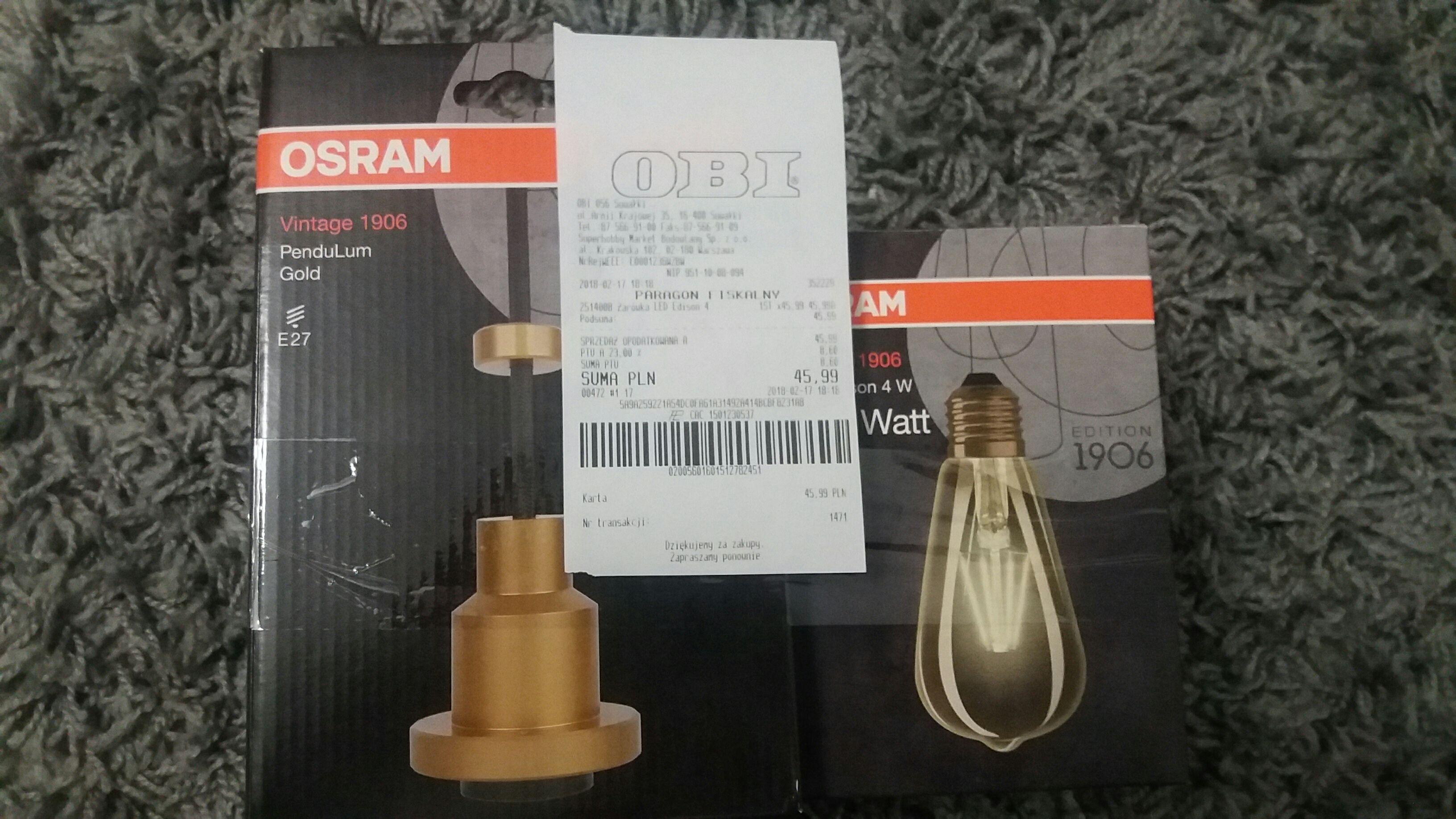 Obi e27 led + oprawa gratis OSRAM
