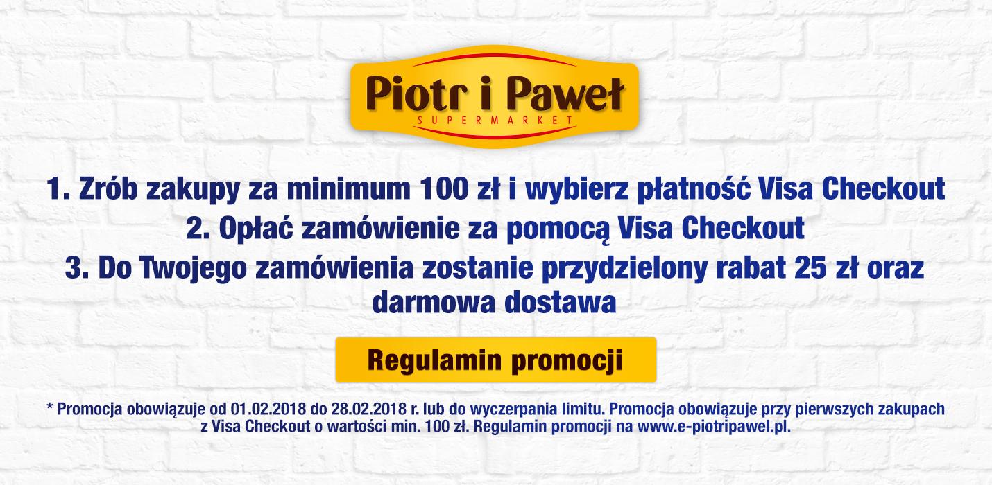 -25 zł + darmowa dostawa z Visa Checkout, MWZ 100 zł (e-piotripawel)