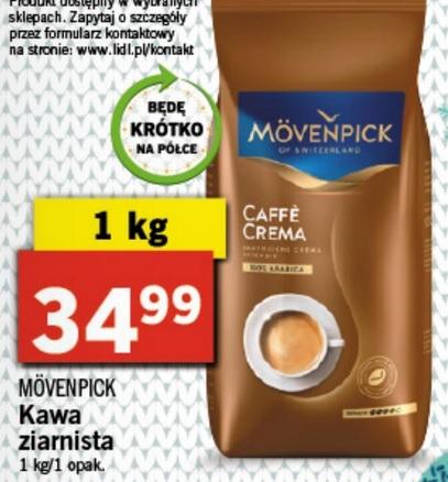 Kawa ziarnista Mövenpick 1 kg Lidl