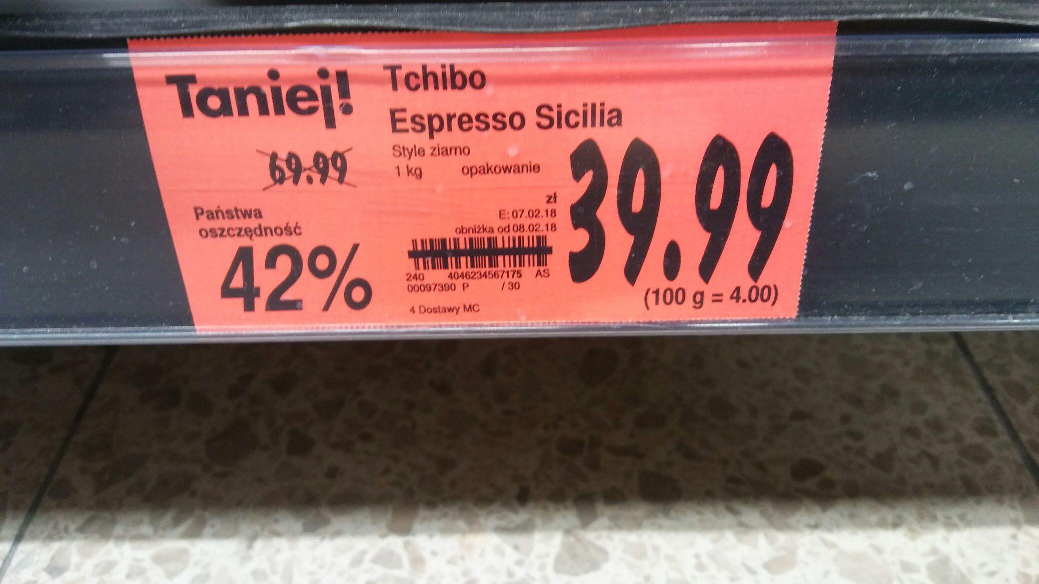 Tchibo Espresso Sicilia 1kg kawa ziarnista