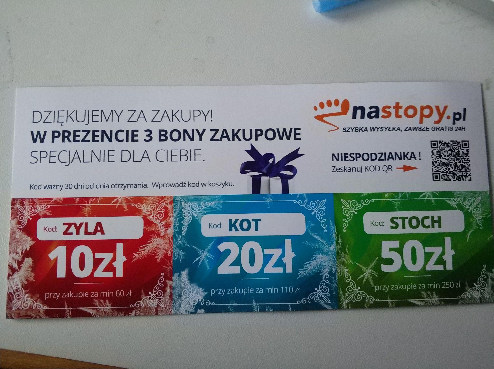 Do 50 zł zniżki w sklepie naStopy.pl