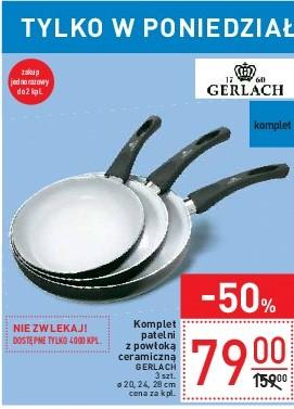 (pon.)Gerlach: komplet 3 patelni z powłoką ceramiczną Carrefour