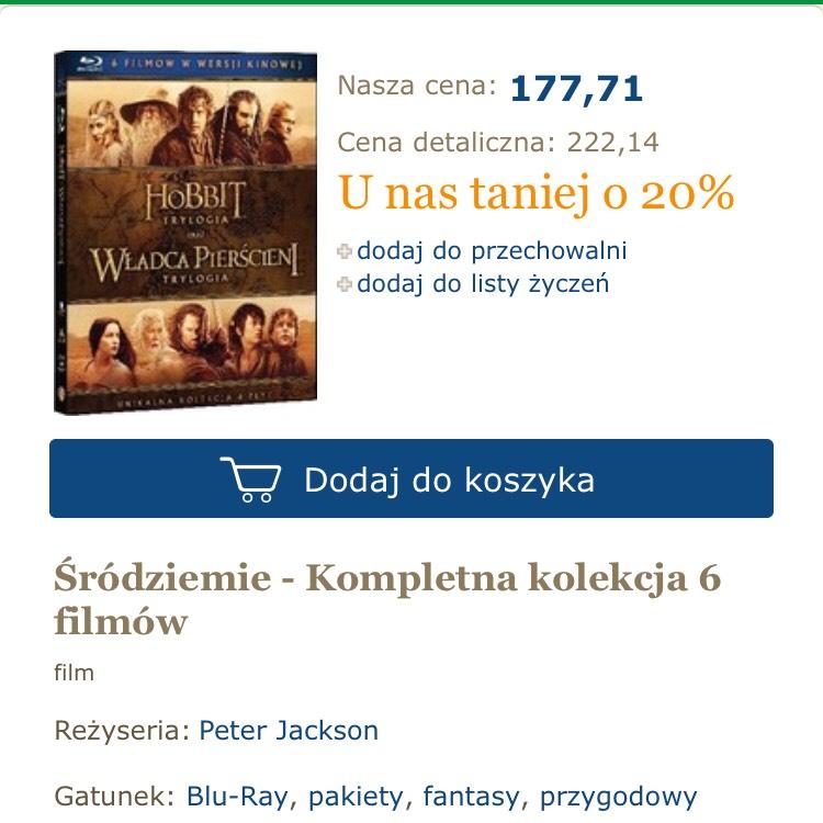 Śródziemie - Hobbit i Władca Pierścieni Blu Ray