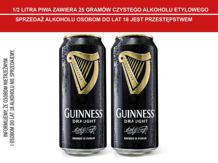 [Lidl] piwo Guinness Draught 440 ml (cena przy zakupie 2szt.)