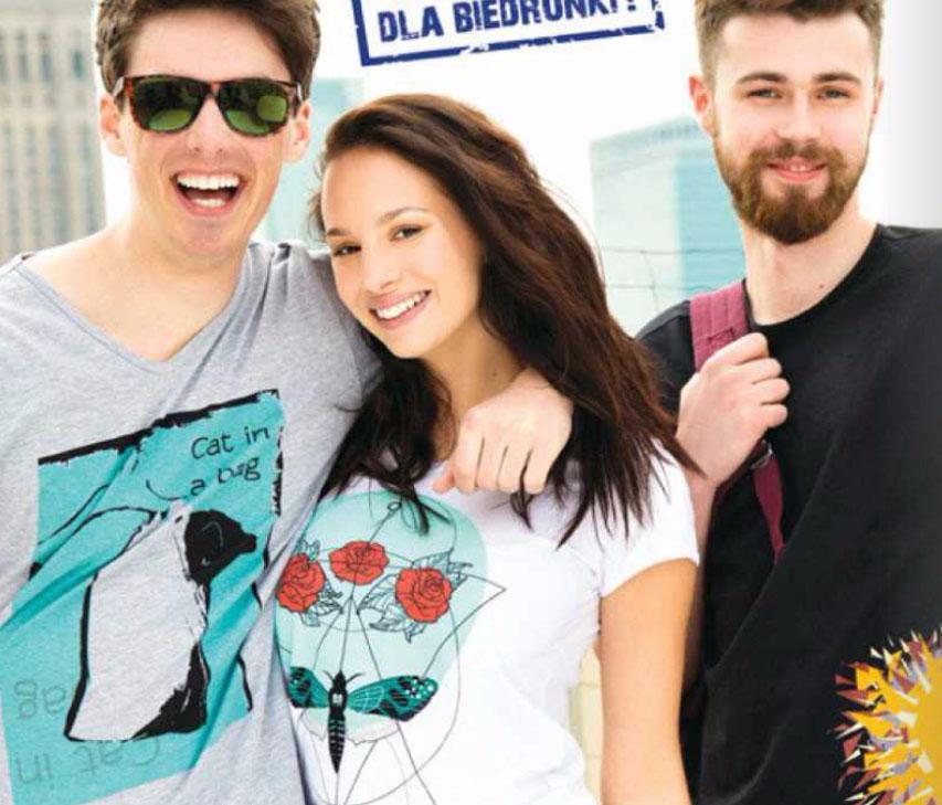 Koszulki zaprojektowane przez studentów ASP w Łodzi za 34,99zł @ Biedronka