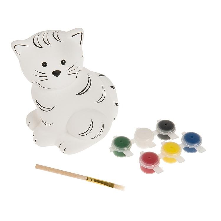 Skarbonka do pomalowania (kot,miś,świnka) + farby z pędzelkiem za 15,99zł @ Smyk