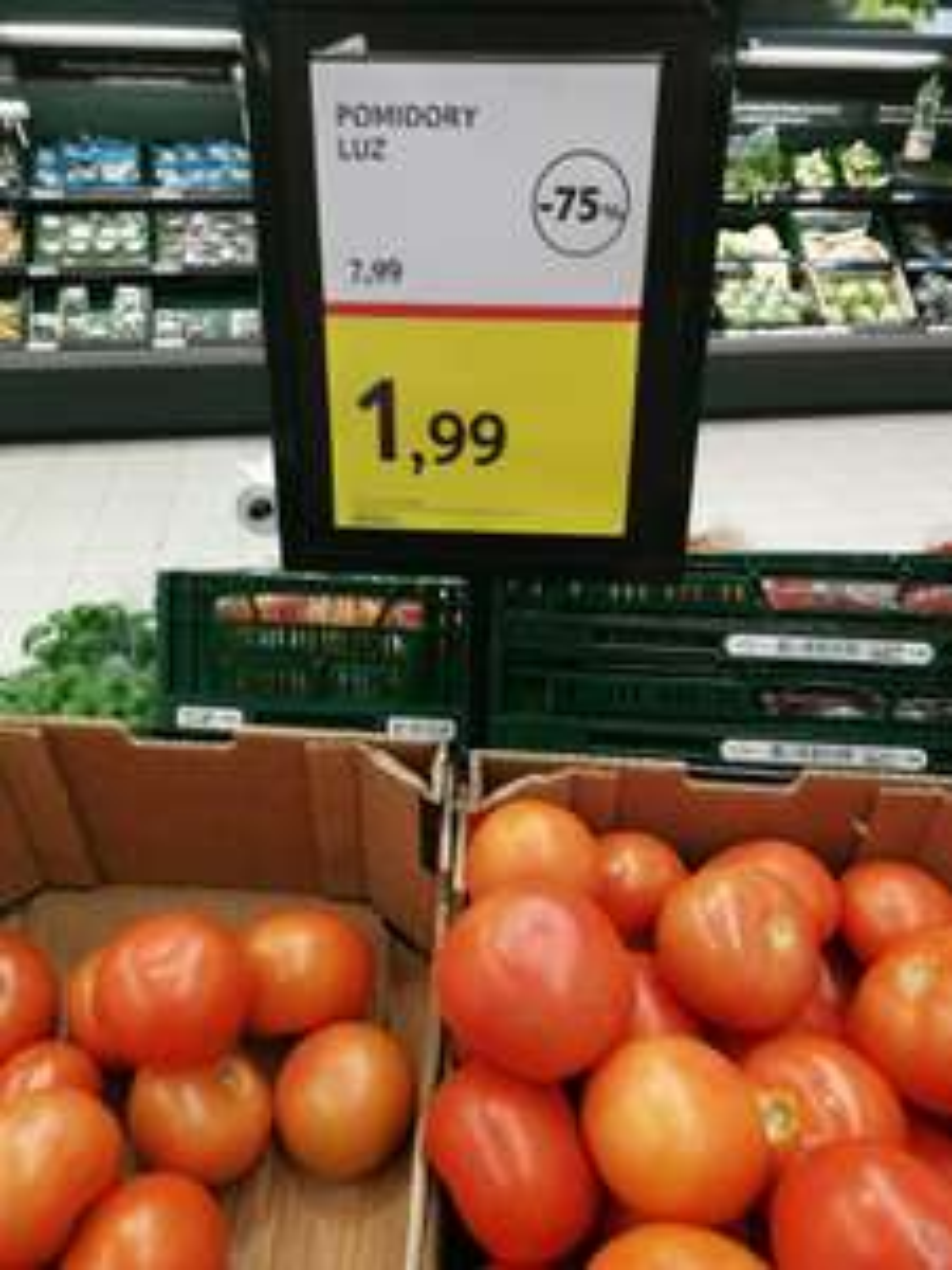 Pomidory Tesco za 1,99 /kg