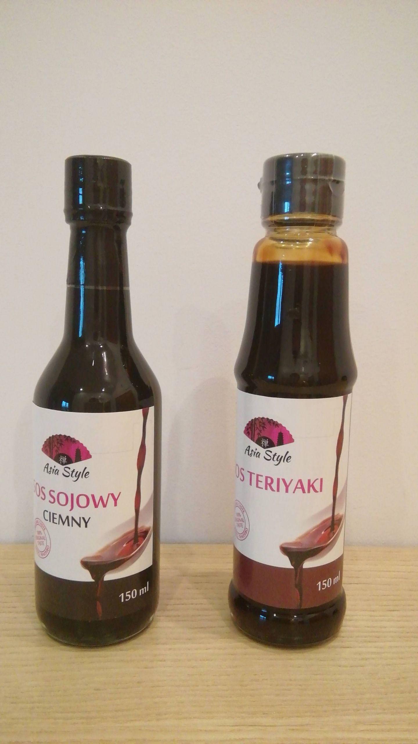 Sos sojowy i sos teriyaki w Biedronce