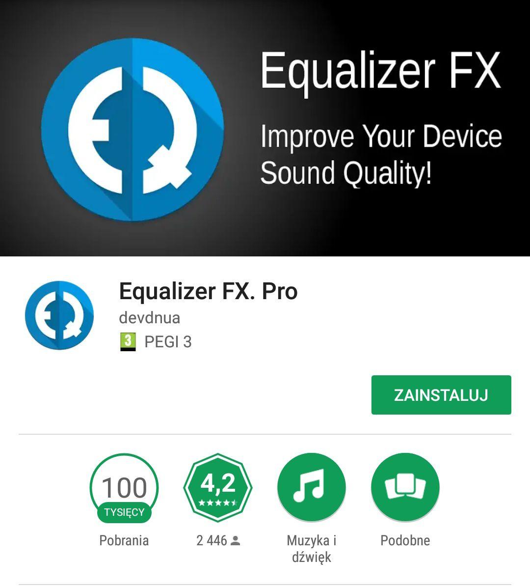Equalizer FX Pro @GooglePlay