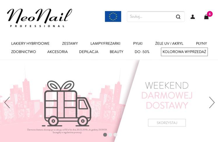 NEONAIL weekend darmowej dostawy + Kolorowa wyprzedaż lakiery hybrydowe 19.90