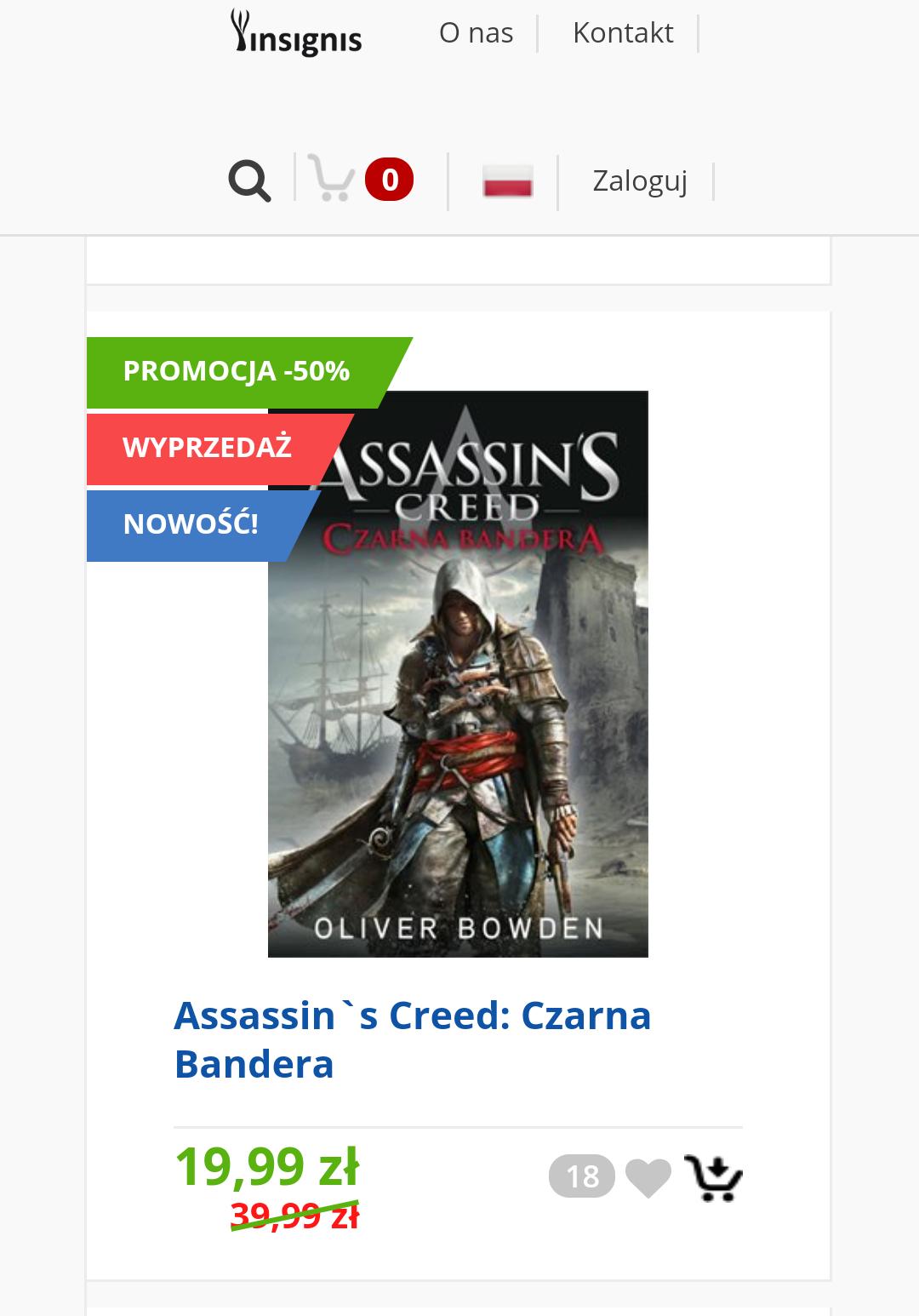 Książki Assassin's Creed 50 % taniej