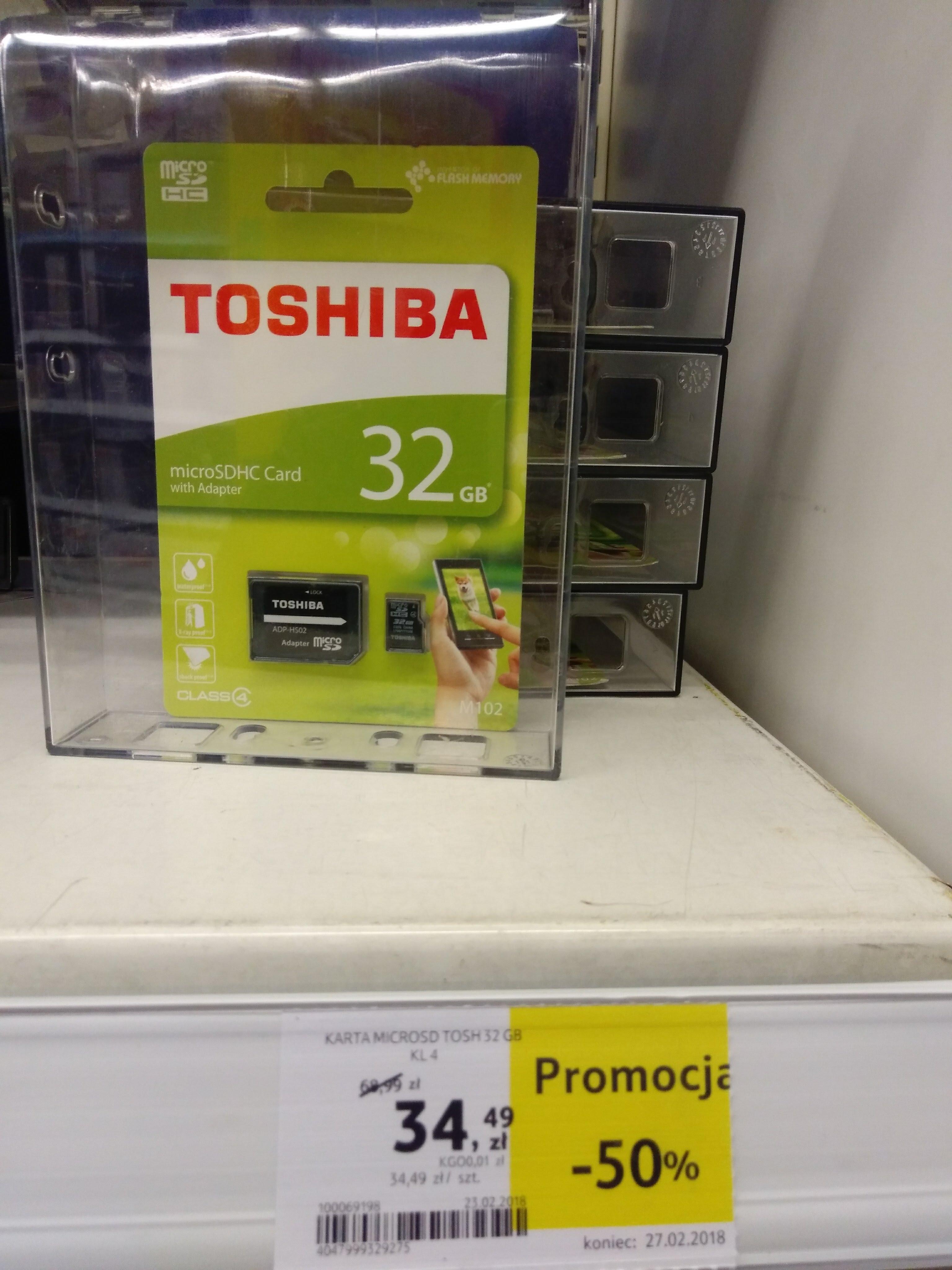 Karta microSD TOSHIBA 32 GB w Tesco