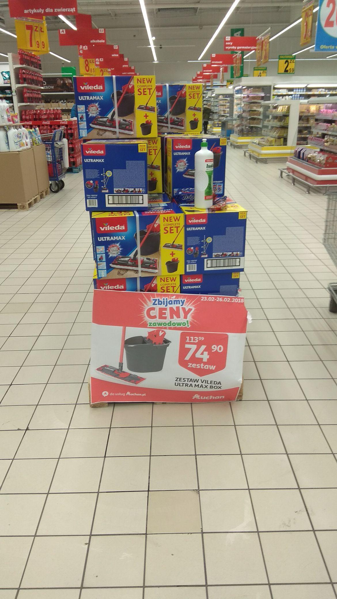 Mop płaski Vileda Ultramax Auchan
