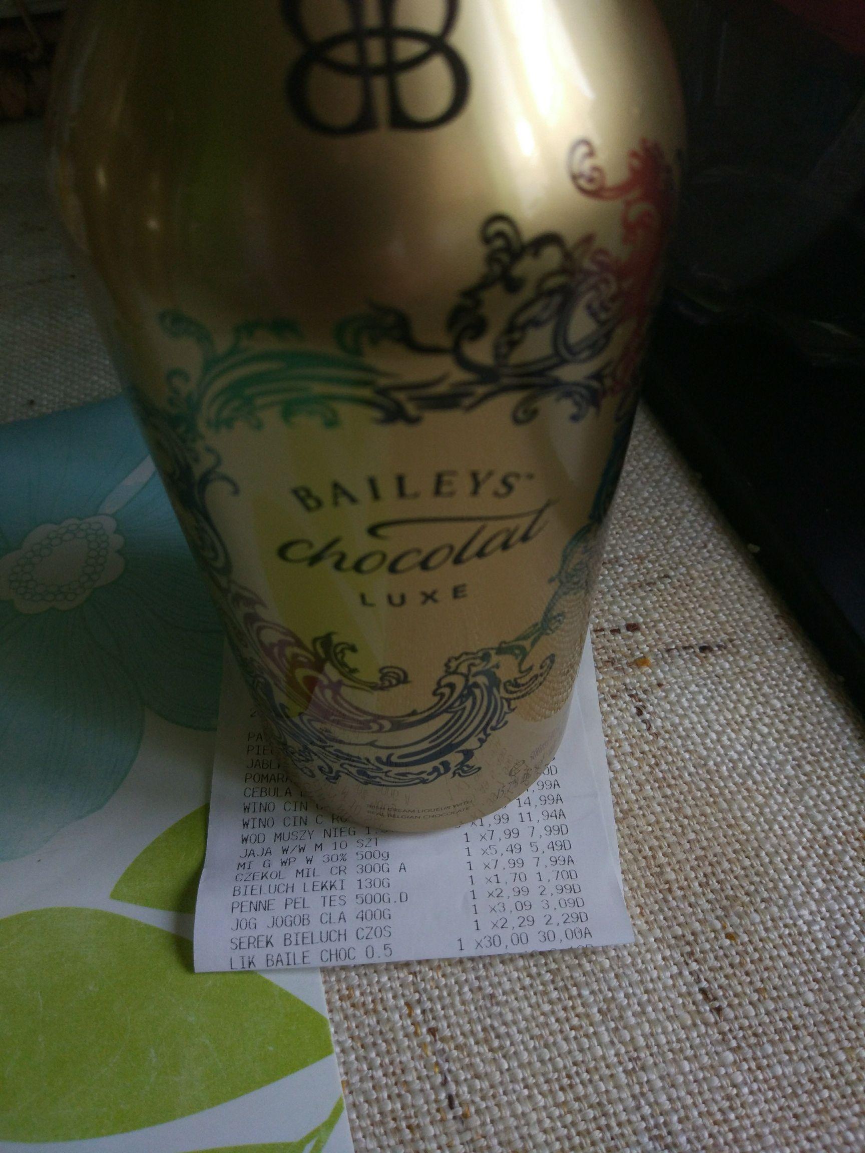 Baileys chocolat luxe 30 zł (-50%) Tesco