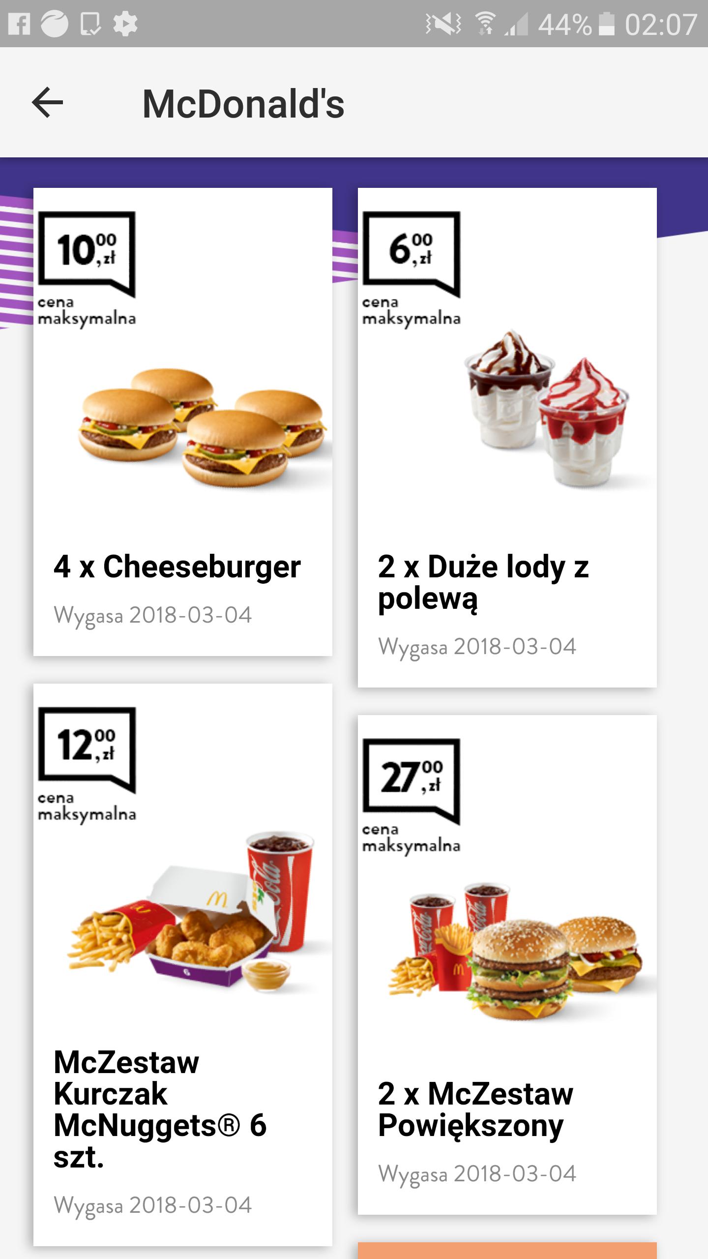 Genialne nowe kupony do McDonald's
