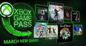 Xbox Game Pass Marzec 2018 / Rise Of Tomb Rider, Sea Of Thieves i inne
