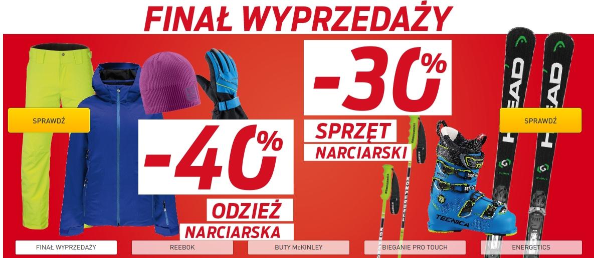 -30% na sprzęt narciarski i -40% na odzież narciarską @ Intersport