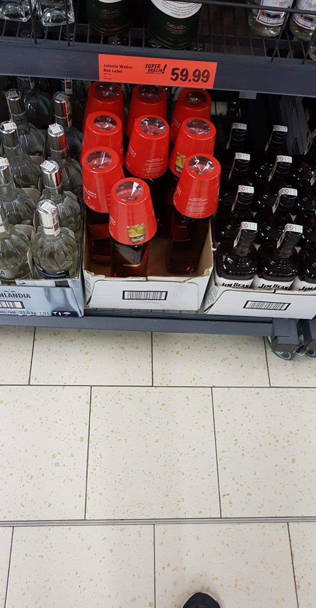Johnnie Walker  Red label 1l + szklanka. LIDL