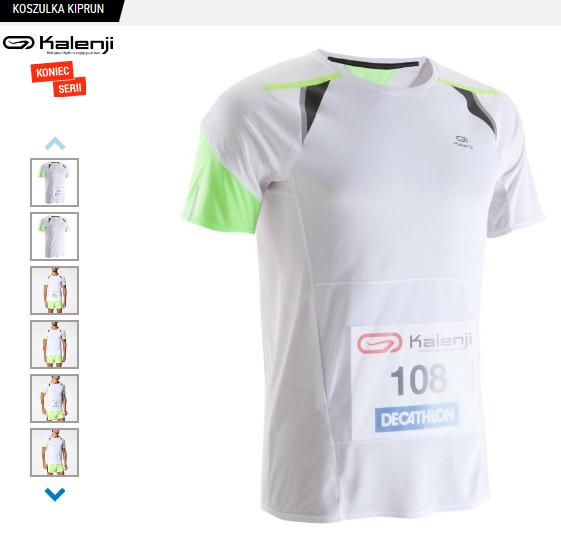 Męska koszulka do biegania z przegrodą na numer startowy Kalenji Kiprun @ Decathlon