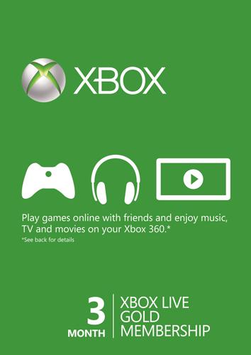 Xbox Live Gold 3 miesiące (możliwe 40,30zł) + 1 miesiąc gratis* @cdkeys