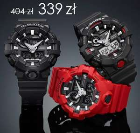 Casio G-Shock seria GA-700 za 339,36zl (wybrane kolory)