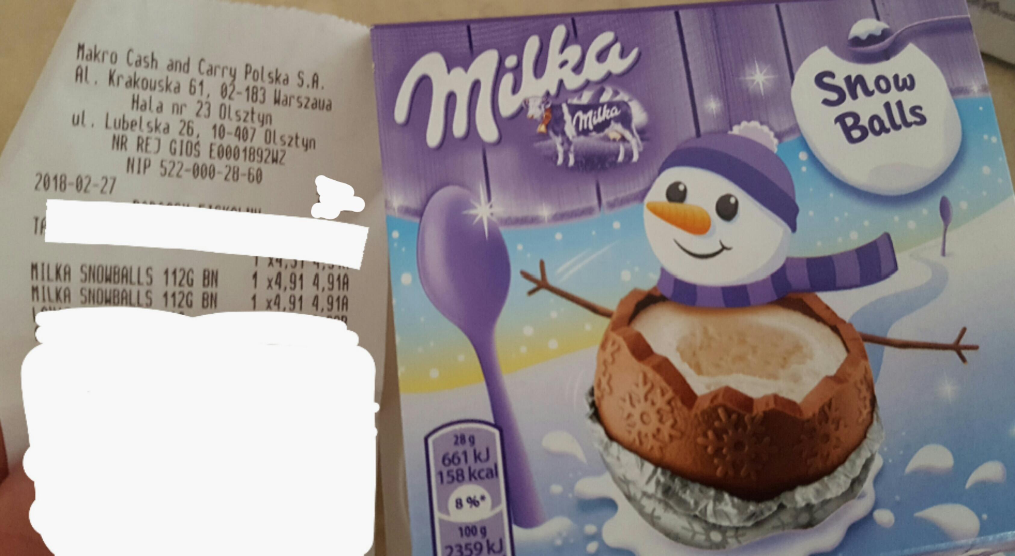 Milka Snowballs - 4.91zł - Makro