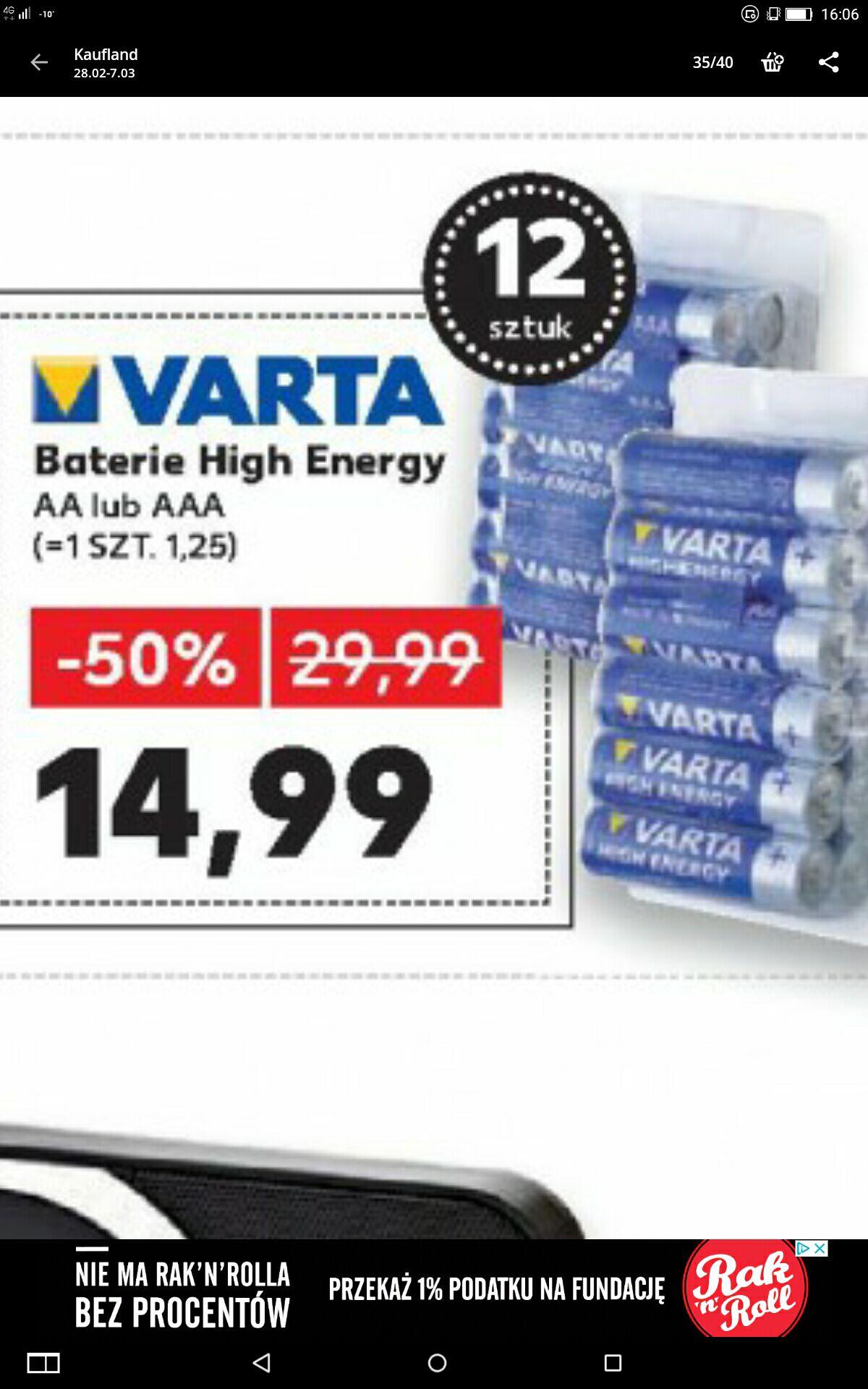Baterie VARTA AA, AAA 12szt