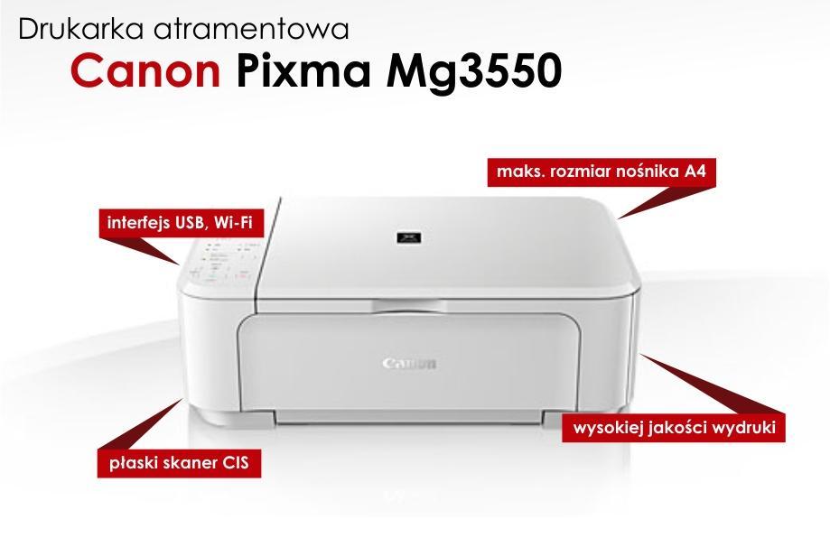 Urządzenie wielofunkcyjne (drukarka/skaner) Canon Pixma MG3550 @ Komputronik