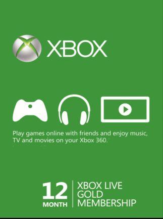 Xbox Live Gold na 12 Miesięcy za 150zł