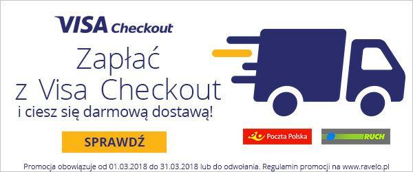 Zapłać Visa Checkout i ciesz się darmową dostawą @Ravelo