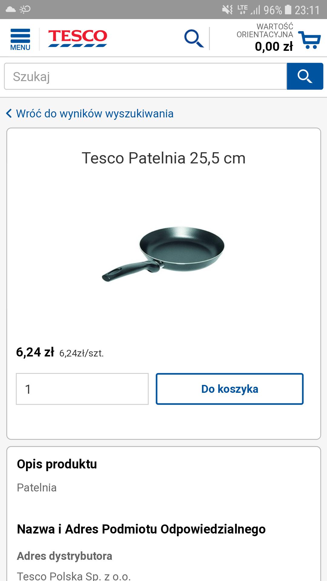 Błąd cenowy eTesco.