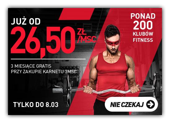 Karnet na siłownie BeActive 3 miesiące + 3 miesiące gratis 159 zł comfort/269 zł open