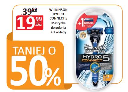Maszynka Wilkinson Hydro Connect 5 + 2 wkłady za 19,99zł @ Natura
