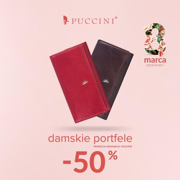 50% rabatu na damskie portfele (ceny od 70zł) @ Puccini