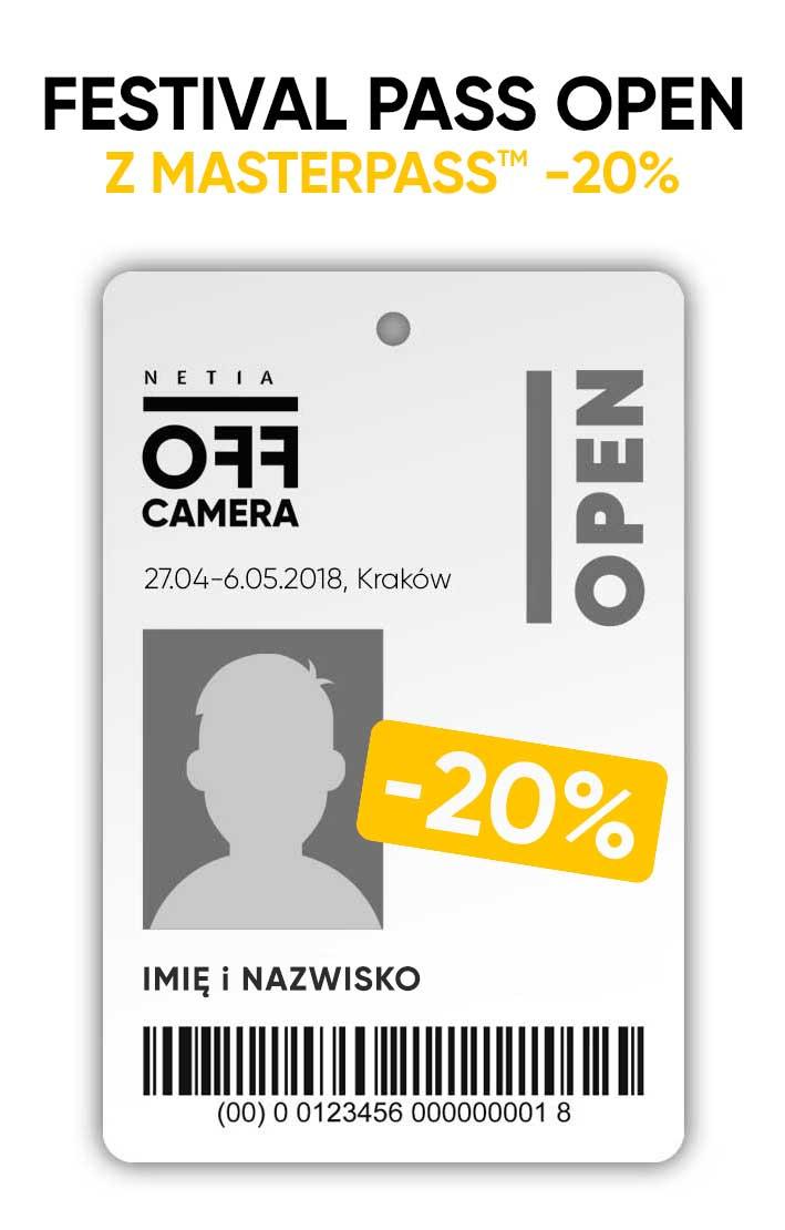 20% rabatu na karnety OFF Camera przy płatności Masterpass