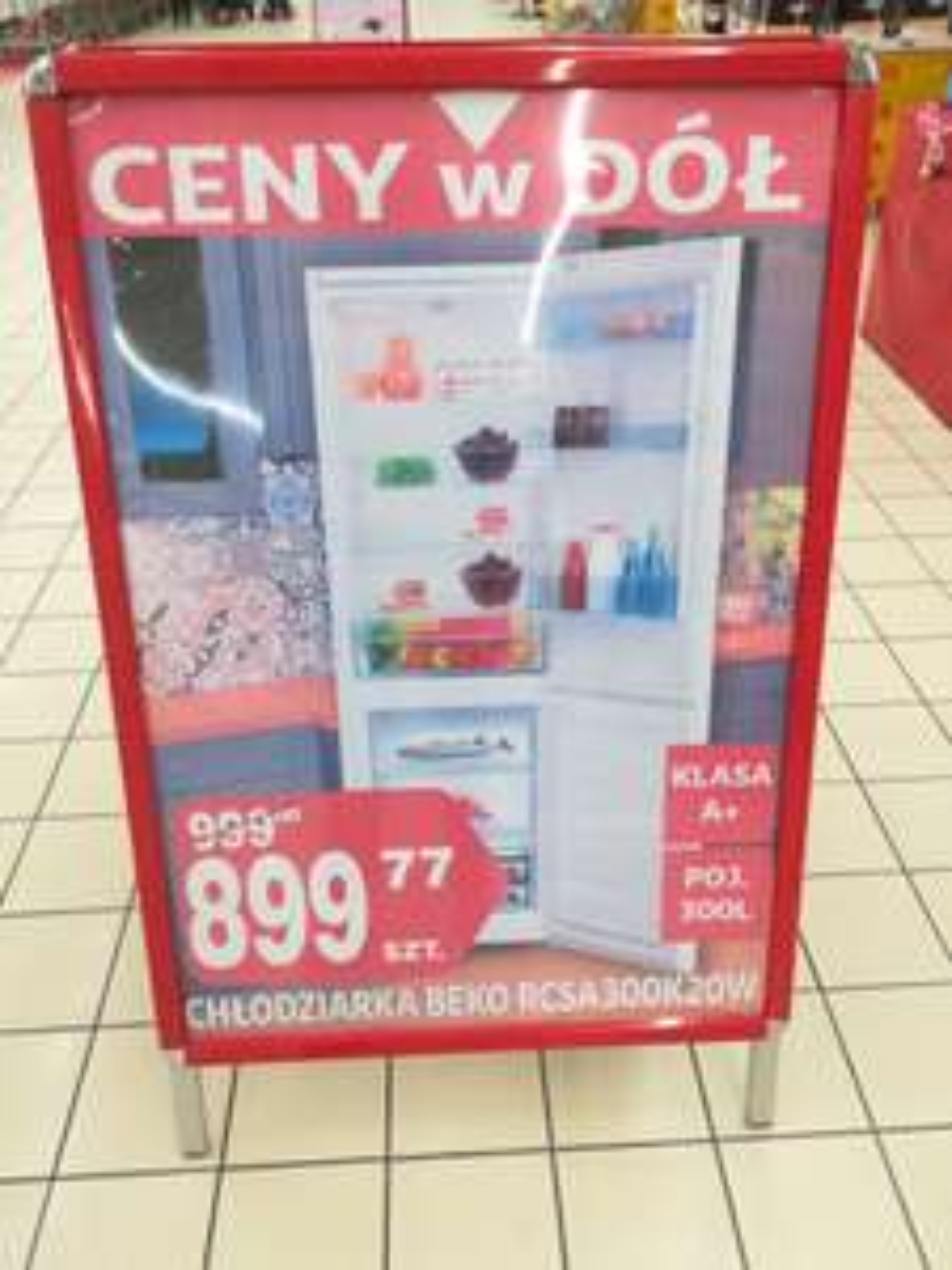 Chłodziarko-zamrażarka Beko RCSA300K20W w Auchan Bonarka