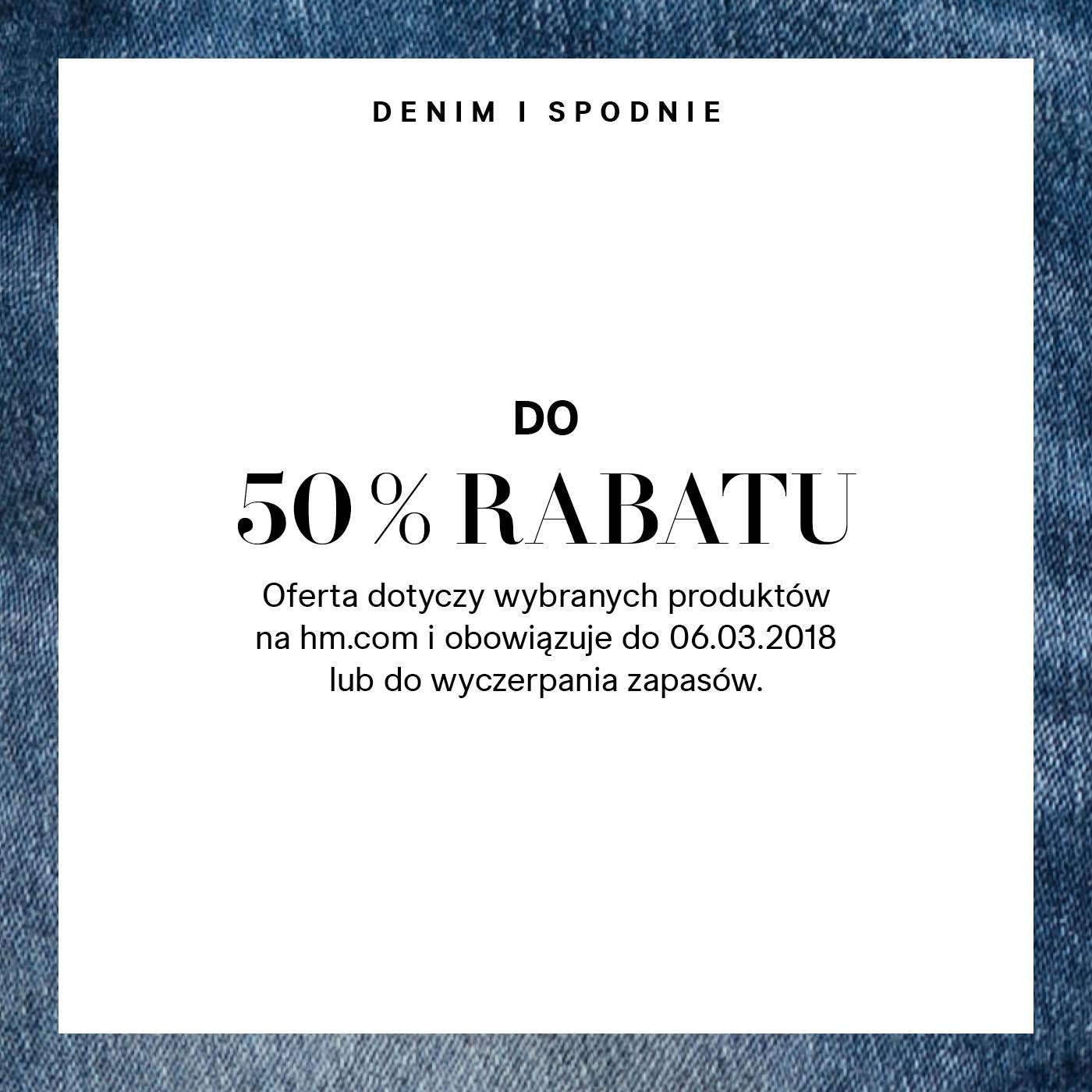 Spodnie wybrane H&M do -50%