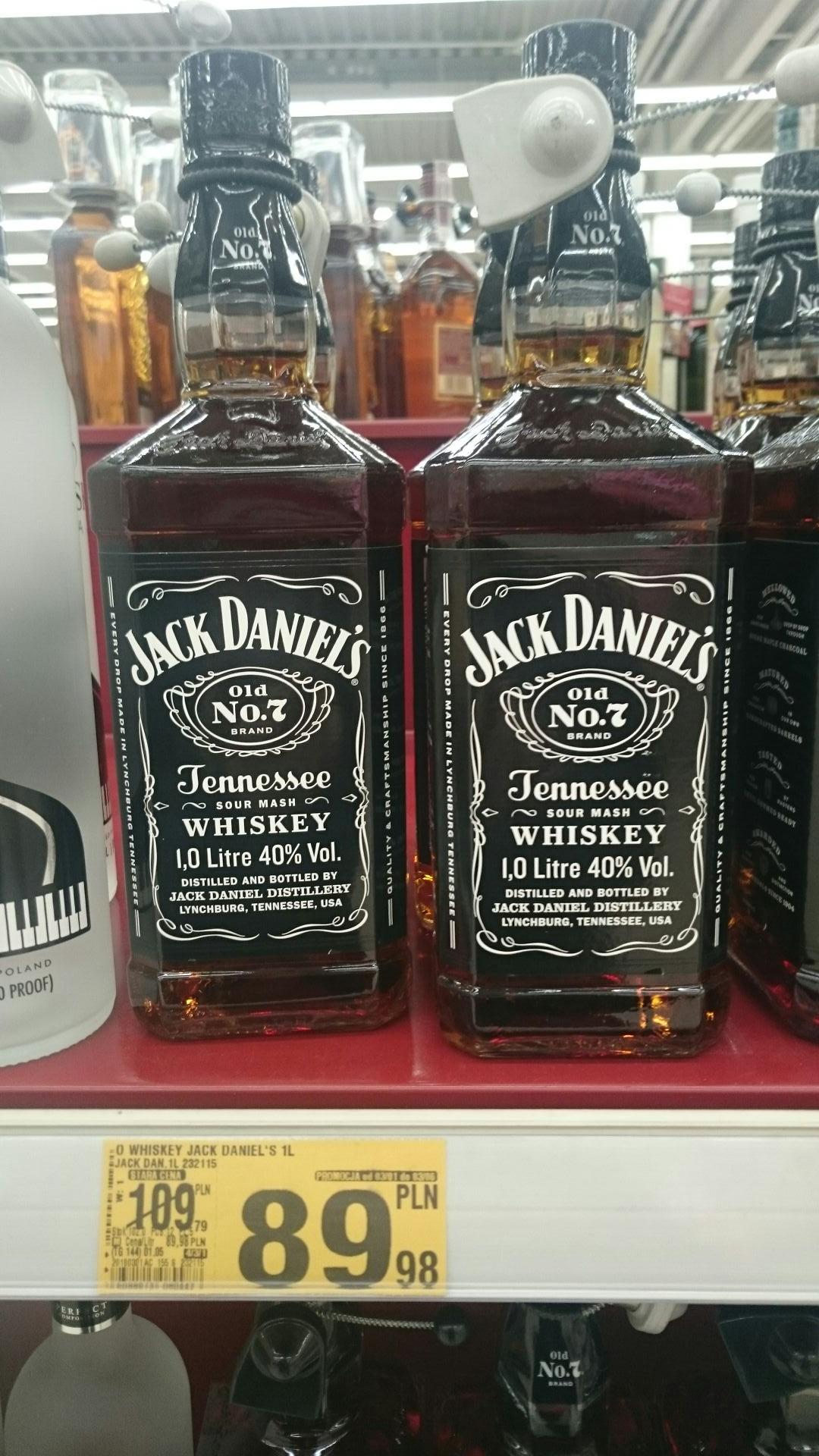 Auchan - Jack Daniels 1l Czarny