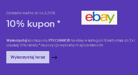 10% rabatu w dziale Elektronika @Ebay.de max 50 Euro