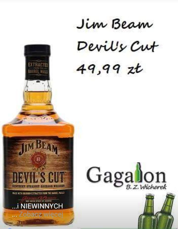 Whisky Jim Beam Devils Cut oraz wino Porto Foncesa