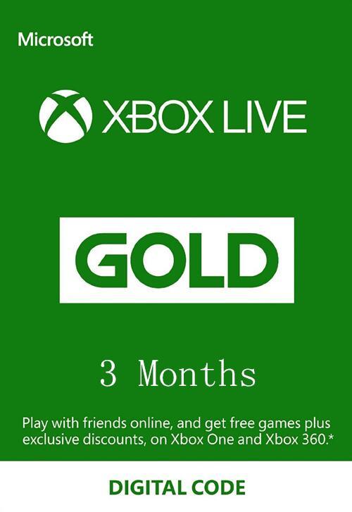 Xbox Live Gold 3 miesiące + 1 miesiąc gratis* $12,97 @nokeys