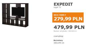Regał TV EXPEDIT za 279,99 zł @ IKEA