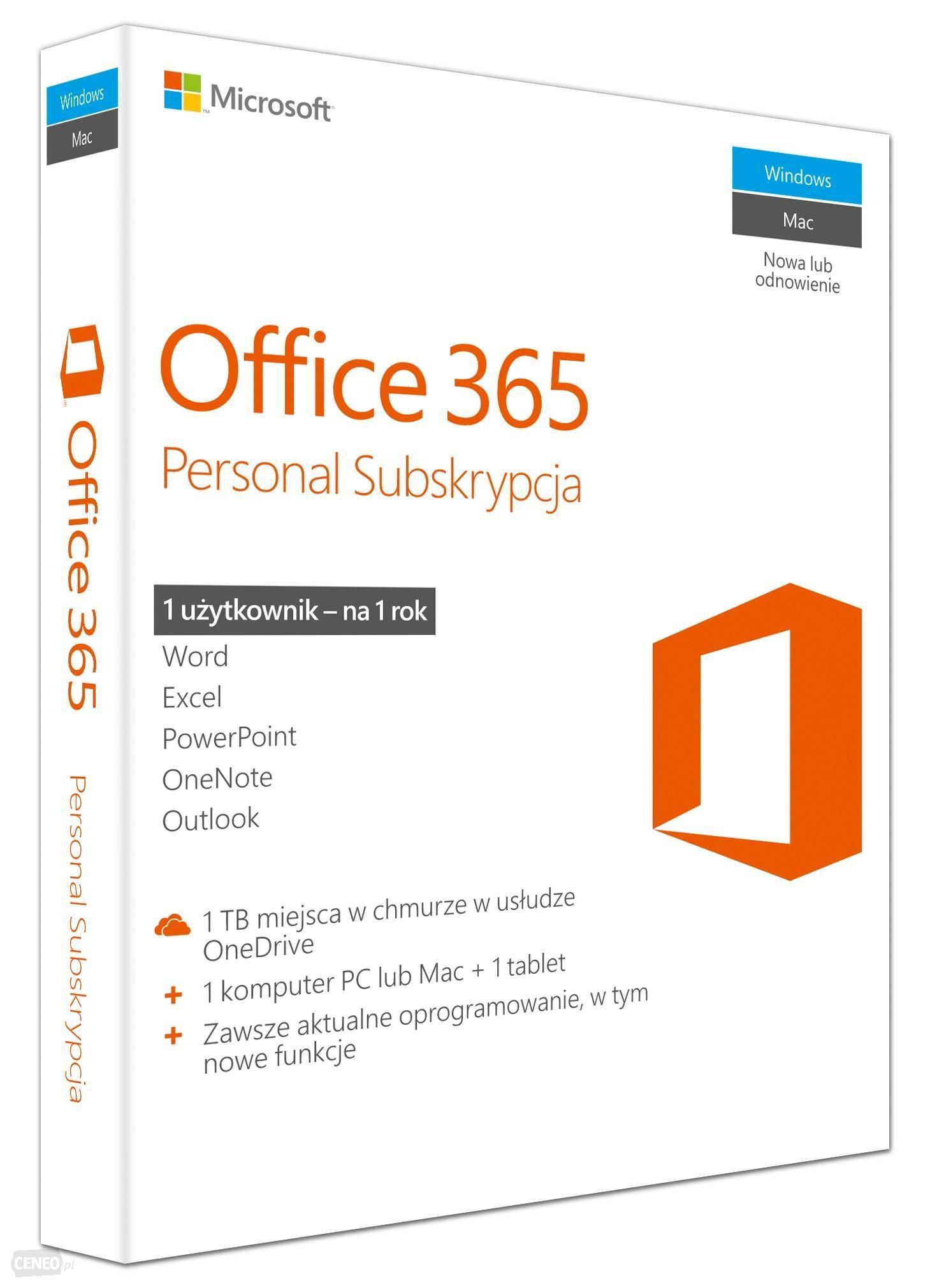 Microsoft Office 365 Home 5PC + OneDrive 5TB licencja na rok AMAZON.IT