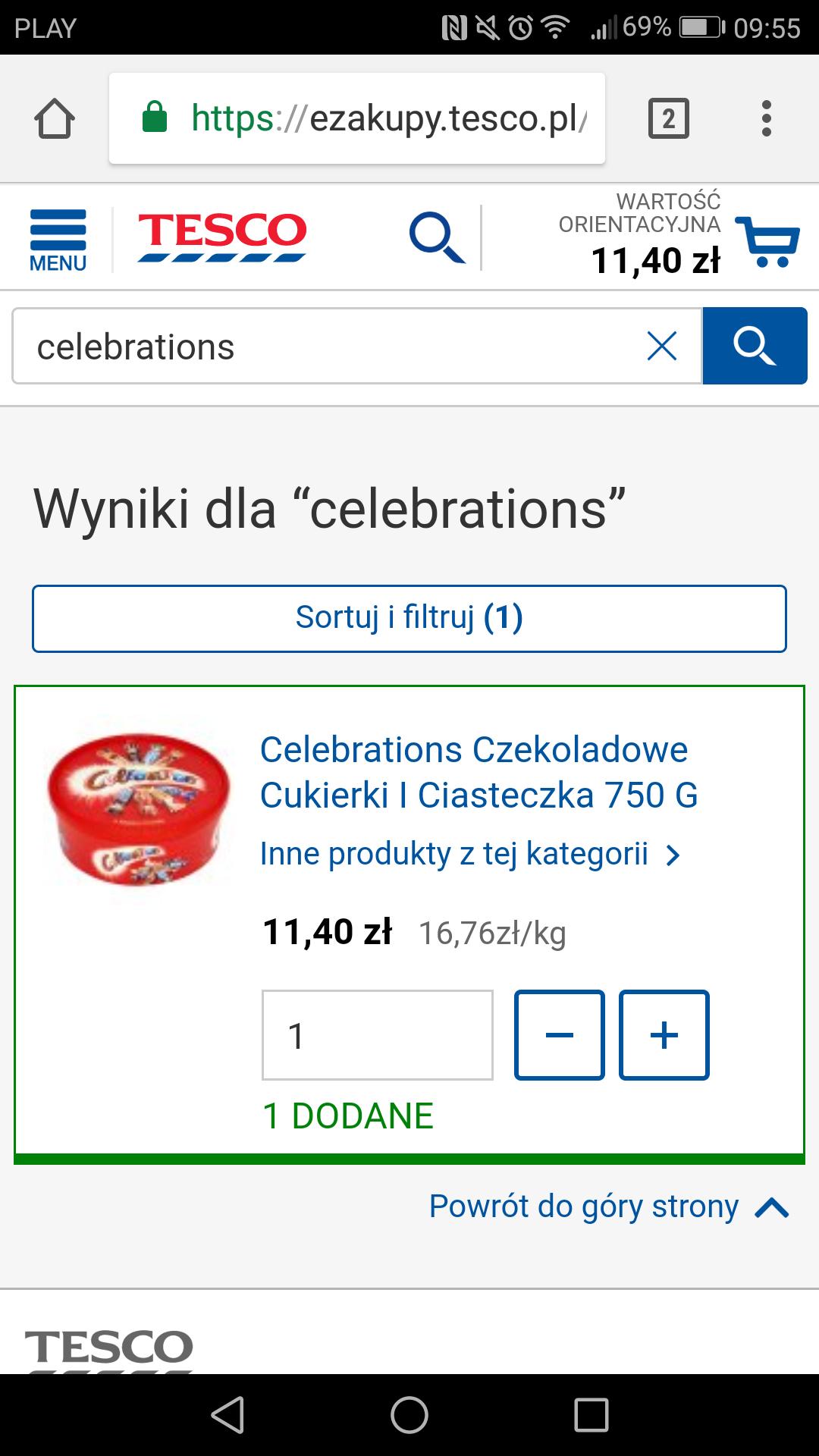 Mieszanka Celebrations w Tesco Ezakupy za 11.40zl