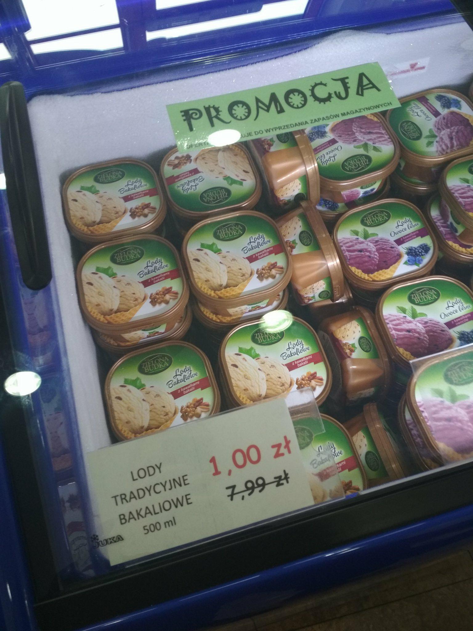 Wyprzedaż lodów w sklepie firmowym Zielona Budka (Rzeszów i Mielec)