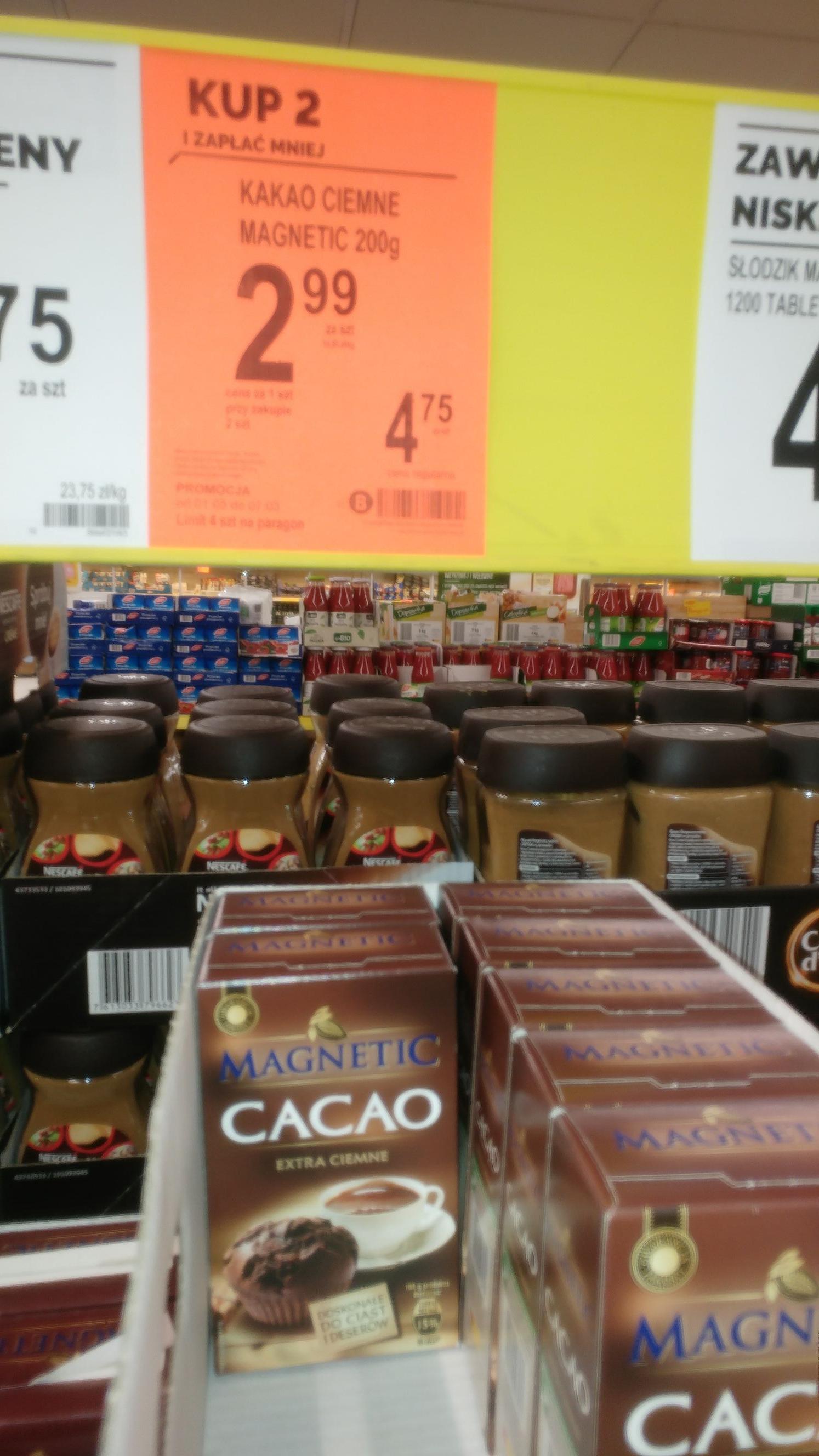 Ciemne kakao Magnetic 200g, kup 2 i skorzystaj z promocji.