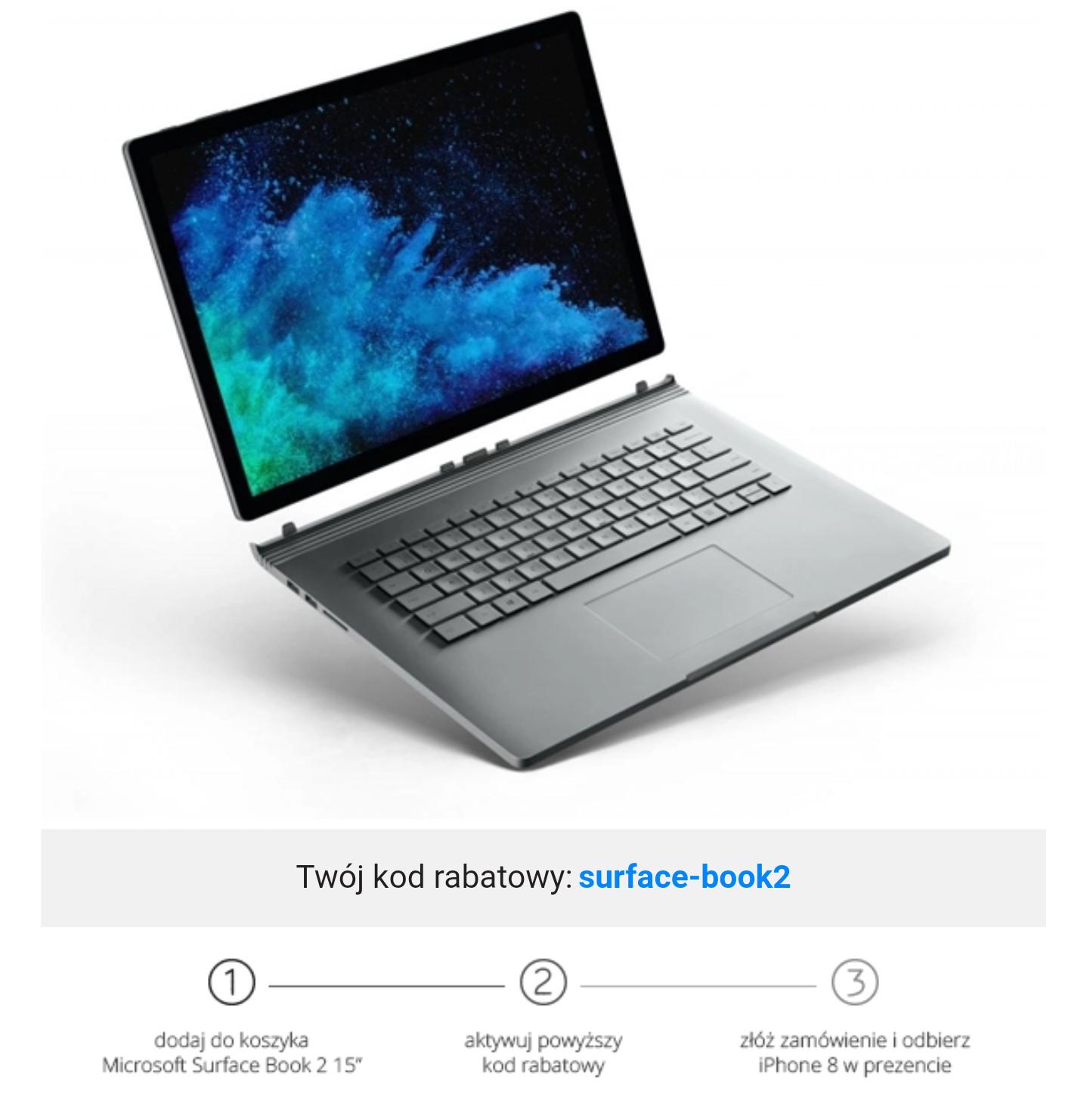 """iPhone 8 gratis do wybranych Surface Book 2 15"""" w X-Kom"""