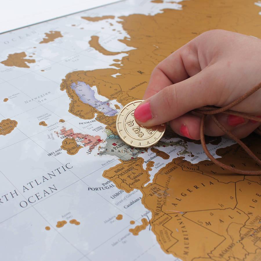 Mapa świata zdrapka 88x52cm