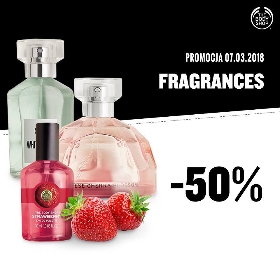 50% rabatu na zapachy @ The Body Shop