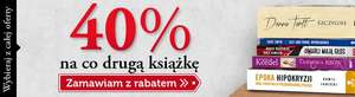 Rabat 40% na co drugą książkę @ Znak